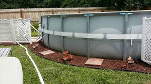 Landscaping Around Pools by Landscaping Around Base Of Intex Ultra Frame Pools Page 5