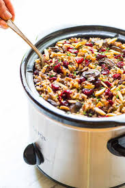 quinoa thanksgiving stuffing crock pot stuffing with wild rice cranberries and almonds