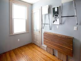 space saving kitchen tables dining room midcentury with baseboards