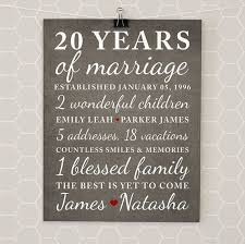 20 year wedding anniversary 20th wedding anniversary gifts wedding ideas