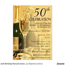 Invitation Birthday Party Card 50th Birthday Party Invitations Birthday Party Invitations
