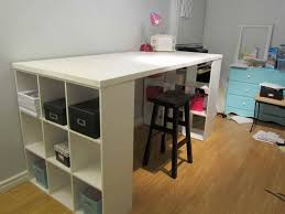 Craft Desk With Storage Contemporary Home Office With Wooden Craft Table Storage Featuring