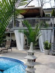 under deck cabana seating area tropical patio bridgeport