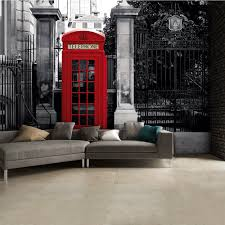 and white iconic red london phone box wall mural 315cm x 232cm black and white iconic red london phone box wall mural 315cm x 232cm