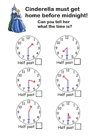 telling time half hour telling the time to o clock half past by sophiemhorton teaching