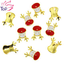 shop 10pcs lot xmas santa claus rudolph reindeer decoration