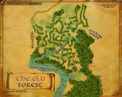 Lord Of The Rings World Map by Image Map Old Forest Jpg The One Wiki To Rule Them All