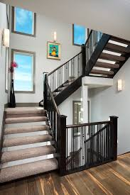 Painting Banister Spindles Painting Railings Staircase Contemporary With Spindle Banister