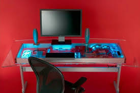 Desk Computer Case by Computer Pc Desk Mod Modification Setup Gaming Computer Rig Inside