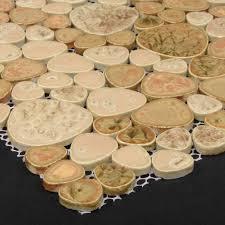 beautiful porcelain pebble tile for bath u0026 backsplash porcelain