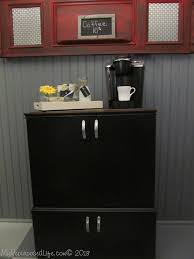 Repurposed Stereo Cabinet Portable Coffee Bar