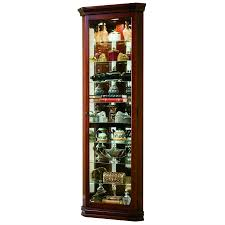 Cherry Wood Curio Cabinet Curio Cabinet Literarywondrous Corner Curio Cabinet With Light