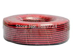 ul2468 30meters 100 feet lot tinned copper 18awg 2 pin red black