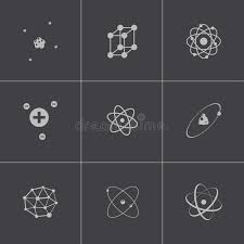 format file atom vector black atom icons set stock vector illustration of atom