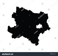 austria map vector lower austria vector map isolated on stock vector 262297475