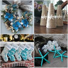 themed christmas decor handmade themed christmas decorations for a coastal inspired
