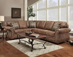 living room living room grey leather sectional sofa and brown