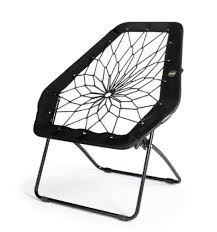 amazon com bunjo chair bungee chair hex black great for