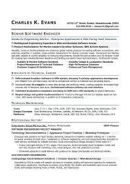 resume examples software engineer resume template senior
