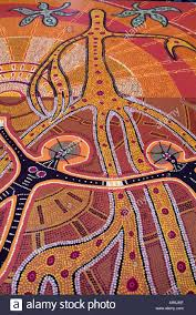 australia aboriginal art dream time earth dot paint culture stock