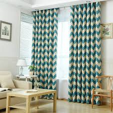 Kitchen Curtains Blue Blackout Curtains For Summer Stripe Pattern For Kitchen Curtains