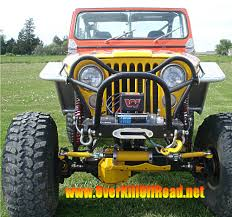jeep front grill guard custom fabs