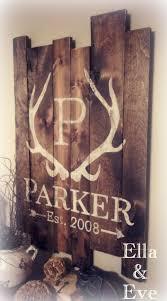 Duck Hunting Home Decor Parker Sign Antler Monogram Last Name U0026 Est Year Antlers