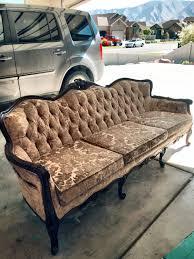gathering place no 2 reupholster a vintage sofa diy tutorial