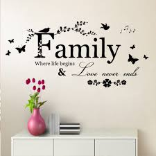 popular vinyl wall quotes family buy cheap vinyl wall quotes family where life begins butterfly wall art quote sticker removable vinyl decal decor china