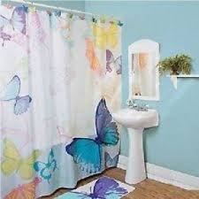 Blue Butterfly Curtains Butterfly Shower Curtain Hooks Foter