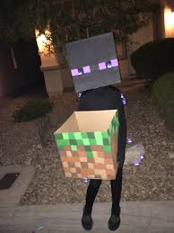 homemade minecraft enderman costume for my kids pinterest