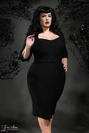 pinup couture lorelei 1940 u0027s style plus size dress in black