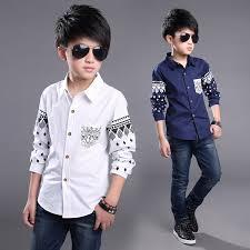 boys shirts cotton fashion children clothing high quality school