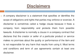 what is the difference between a terms of service and a disclaimer