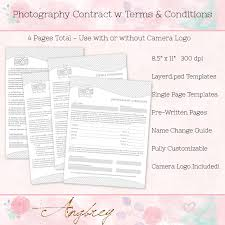contract form for photographers photography agreement terms