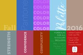 pantone fall 2016 color palette palettes creative market