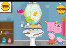peppa pig games peppa pig cleaning bathroom u2013 peppa pig cleaning
