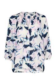 tucker classic blouse in horses print