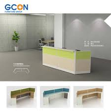 Buy Reception Desk Wooden Office Front Reception Counter Desk For 2 Person Buy