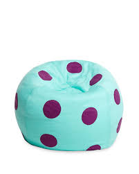 monkeez polka dot beanbag chair teal purple