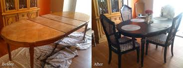 Dining Room Table Makeover Ideas Dining Tables Dining Room Table Makeover With Junkie Paint Cozy