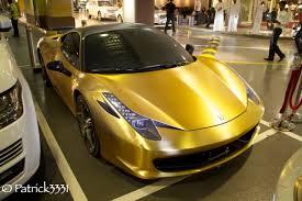 brushed gold ferrari 458 95 octane