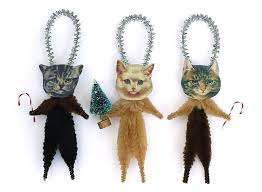 cat ornaments i need these holidays