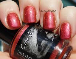 crowstoes nail color mintally unstable headed red
