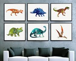 Dinosaur Nursery Decor Dinosaur Wall Decor Etsy
