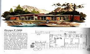 1950s Ranch House Plans Vibrant 4 1950s Modern House Designs Mid Century Style Plans Books