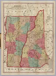 Map Of Vt Map Of Vermont And New Hampshire David Rumsey Historical Map