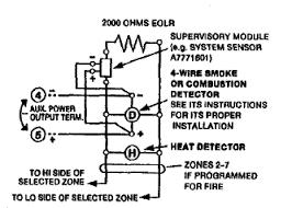 4 wire smoke detectors on zone 1 ademco vista 20p doityourself
