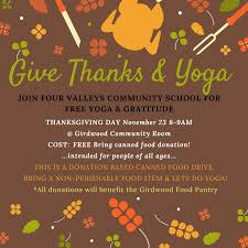 free thanksgivng day bring canned food donations four