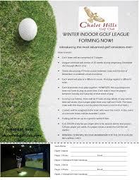 winter indoor golf league